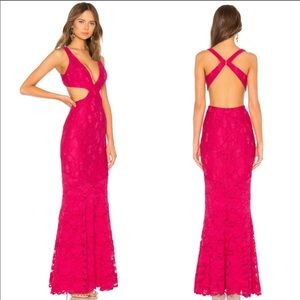 lovers + friends gown Eliot Hot Pink